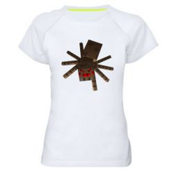 Женская спортивная футболка Spider from Minecraft