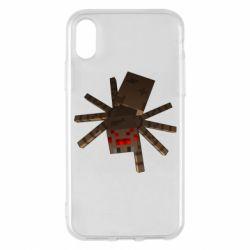 Чехол для iPhone X/Xs Spider from Minecraft