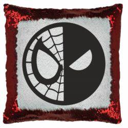 Подушка-хамелеон Spider Man and Deadpool
