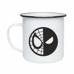 Кружка эмалированная Spider Man and Deadpool