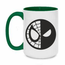 Кружка двухцветная 420ml Spider Man and Deadpool