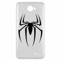 Чехол для Huawei Y7 2017 Spider Man Logo - FatLine