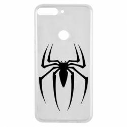 Чехол для Huawei Y7 Prime 2018 Spider Man Logo - FatLine
