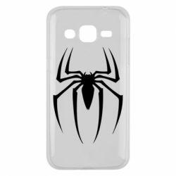 Чехол для Samsung J2 2015 Spider Man Logo - FatLine