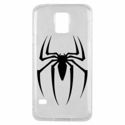 Чехол для Samsung S5 Spider Man Logo - FatLine