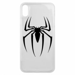 Чехол для iPhone Xs Max Spider Man Logo - FatLine