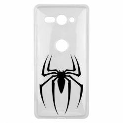 Чехол для Sony Xperia XZ2 Compact Spider Man Logo - FatLine