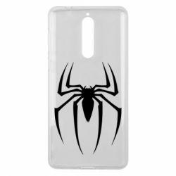 Чехол для Nokia 8 Spider Man Logo - FatLine