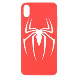 Чехол для iPhone X Spider Man Logo - FatLine