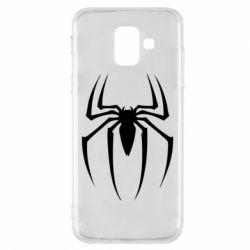 Чехол для Samsung A6 2018 Spider Man Logo - FatLine