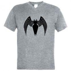 Чоловіча футболка з V-подібним вирізом Spider venom