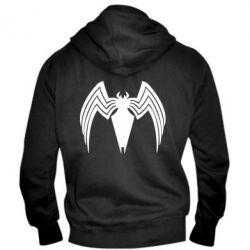 Чоловіча толстовка на блискавці Spider venom