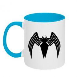Кружка двоколірна 320ml Spider venom