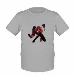 Детская футболка Spiderman flat vector