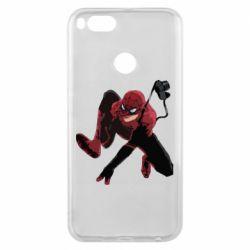 Чехол для Xiaomi Mi A1 Spiderman flat vector