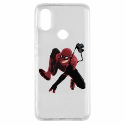 Чехол для Xiaomi Mi A2 Spiderman flat vector