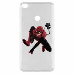 Чехол для Xiaomi Mi Max 2 Spiderman flat vector