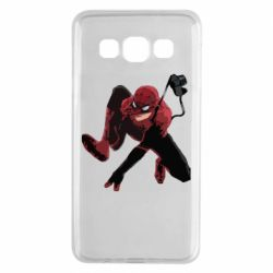 Чехол для Samsung A3 2015 Spiderman flat vector