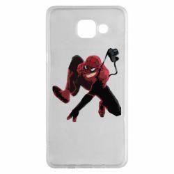 Чехол для Samsung A5 2016 Spiderman flat vector