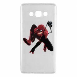 Чехол для Samsung A7 2015 Spiderman flat vector