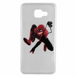 Чехол для Samsung A7 2016 Spiderman flat vector
