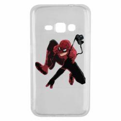 Чехол для Samsung J1 2016 Spiderman flat vector