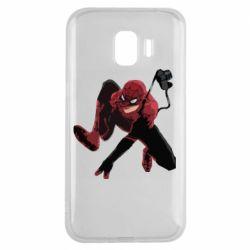 Чехол для Samsung J2 2018 Spiderman flat vector