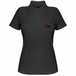 Женская футболка поло Spiderman flat vector