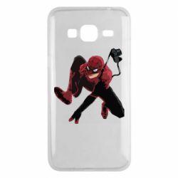 Чехол для Samsung J3 2016 Spiderman flat vector