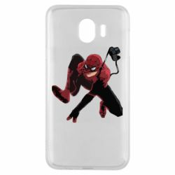 Чехол для Samsung J4 Spiderman flat vector