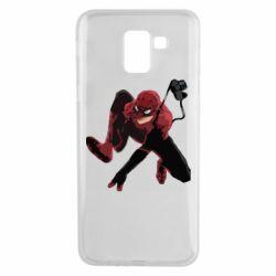 Чехол для Samsung J6 Spiderman flat vector