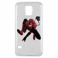 Чехол для Samsung S5 Spiderman flat vector