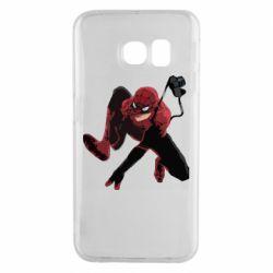 Чехол для Samsung S6 EDGE Spiderman flat vector