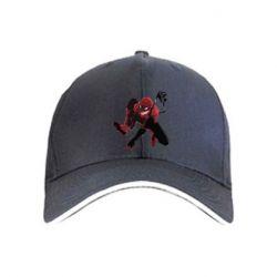 Кепка Spiderman flat vector