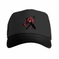 Кепка-тракер Spiderman flat vector