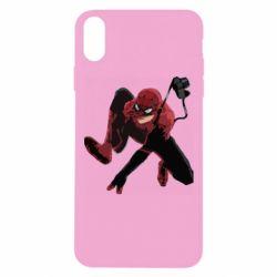 Чехол для iPhone Xs Max Spiderman flat vector