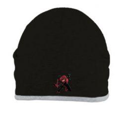 Шапка Spiderman flat vector
