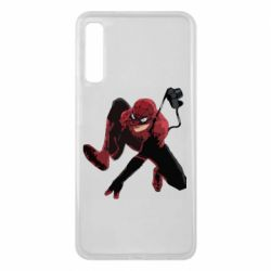 Чехол для Samsung A7 2018 Spiderman flat vector