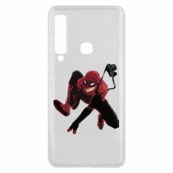 Чехол для Samsung A9 2018 Spiderman flat vector