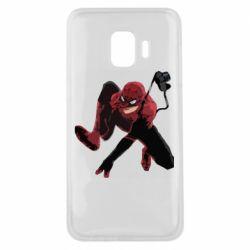 Чехол для Samsung J2 Core Spiderman flat vector