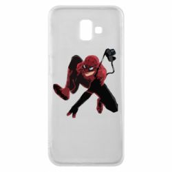 Чехол для Samsung J6 Plus 2018 Spiderman flat vector