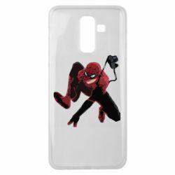Чехол для Samsung J8 2018 Spiderman flat vector