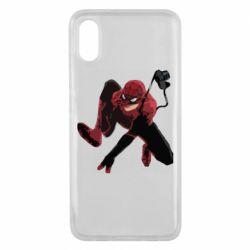 Чехол для Xiaomi Mi8 Pro Spiderman flat vector