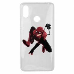 Чехол для Xiaomi Mi Max 3 Spiderman flat vector