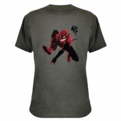 Камуфляжная футболка Spiderman flat vector