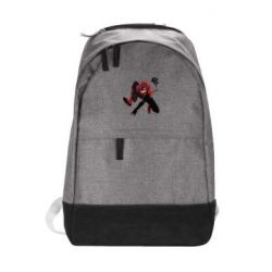 Городской рюкзак Spiderman flat vector