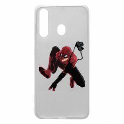 Чехол для Samsung A60 Spiderman flat vector