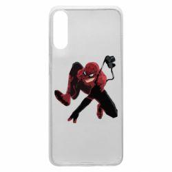 Чехол для Samsung A70 Spiderman flat vector