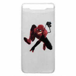 Чехол для Samsung A80 Spiderman flat vector