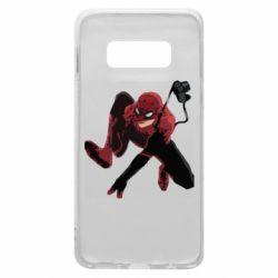 Чехол для Samsung S10e Spiderman flat vector